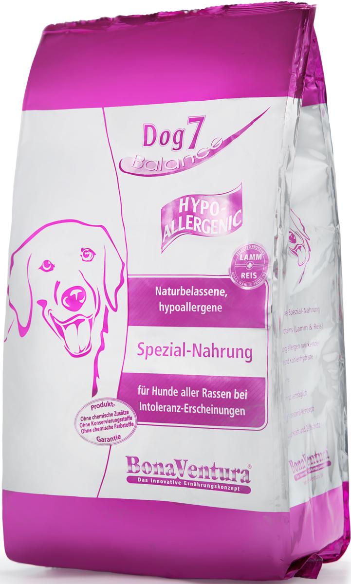 Корм сухой BonaVentura Dog 7 Hipo Allergenic для собак, гипоаллергенный, с бараниной и рисом, 3 кг5649130Натуральный гиппоалергенный корм для собак BonaVentura Dog 7 Hipo Allergenic произведен из продуктов, пригодных в пищу человека по специальной технологии, схожей с технологией Sous Vide. Благодаря технологии при изготовлении сохраняются все натуральные витамины и минералы. Это достигается благодаря бережной обработке всех ингредиентов при температуре менее 80 градусов. Такая бережная обработка продуктов не стерилизует продуктовые компоненты. Благодаря этому корма не нуждаются ни в каких дополнительных вкусовых добавках и сохраняют все необходимые полезные вещества.При производстве кормов используются исключительно свежие натуральные продукты: мясо, овощи и зерновые; Приготовлено из 100% свежего мяса, пригодного в пищу человеку; Содержит натуральные витамины, аминокислоты, минеральные вещества и микроэлементы; С экстрактом масла зародышей зерна пшеницы холодного отжима (Bio-Dura); Без химических красителей, усилителей вкуса, искусственных консервантов и химических добавок; Без ГМО; Без мясокостной муки; Без сои.Товар сертифицирован.