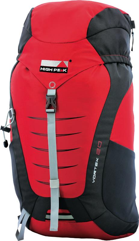 Рюкзак туристический High Peak Vortex, цвет: красный, 20 л30161Компактный легкий спортивный рюкзак для походов одного дня с продуманной конструкцией. Верхняя загрузка, система подвески Airtex обеспечивает вентиляцию спины и комфорт при ношении. Высококачественные материалы. Преимущества и особенности: Эластичные боковые карманы для бутылок воды Карман в крышке рюкзака Система подвески Airtex Мягкие уплотненные плечевые лямки анатомической формы Съемная грудная стяжка Поясной ремень Держатели для трекинговых палок Светоотражающее крепление для мигающего маячка Отделение для питьевой системы Дождевой чехол