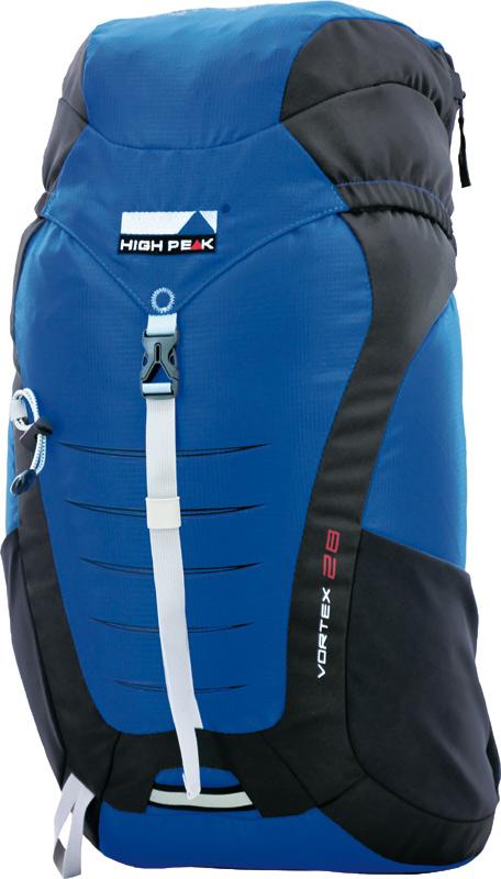 Рюкзак туристический High Peak Vortex, цвет: синий, 28 л67743Компактный легкий спортивный рюкзак для походов одного дня с продуманной конструкцией. Верхняя загрузка, система подвески Airtex обеспечивает вентиляцию спины и комфорт при ношении. Высококачественные материалы. Преимущества и особенности: Эластичные боковые карманы для бутылок воды Карман в крышке рюкзака Система подвески Airtex Мягкие уплотненные плечевые лямки анатомической формы Съемная грудная стяжка Поясной ремень Держатели для трекинговых палок Светоотражающее крепление для мигающего маячка Отделение для питьевой системы Дождевой чехол