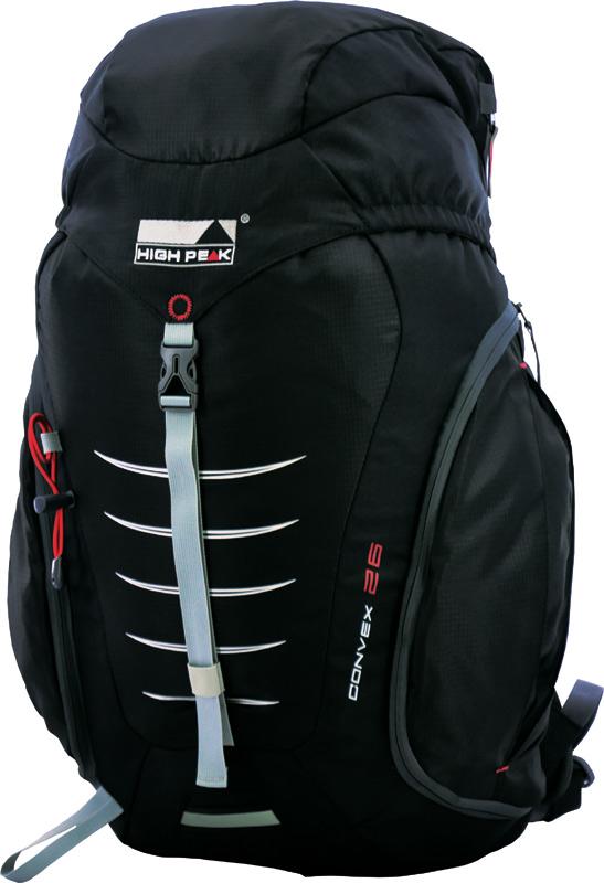 Рюкзак туристический High Peak  Convex , цвет: черный, 26 л - Туристические рюкзаки
