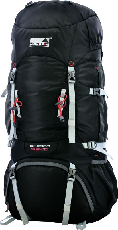 Рюкзак туристический High Peak  Sherpa , цвет: черный, 65 + 10 л - Туристические рюкзаки