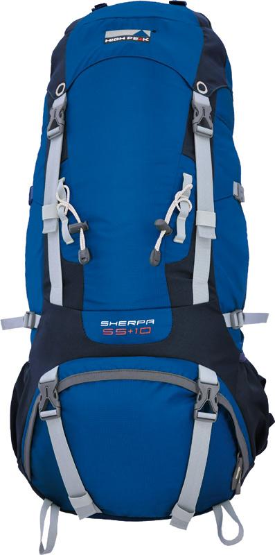 Рюкзак туристический High Peak  Sherpa , цвет: синий, 65 + 10 л - Туристические рюкзаки