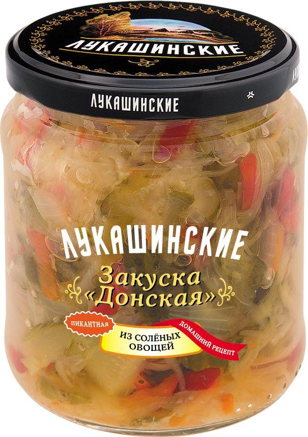 Лукашинские закуска донская из соленых овощей, 450 г4607936770364Изготовленно из отборного Российского сырья, по классическому рецепту.