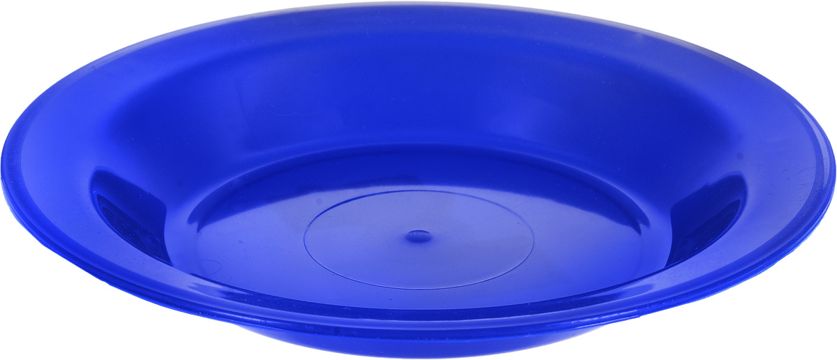 Тарелка Gotoff, цвет: синий, диаметр 21 см115510Тарелка Gotoff изготовлена из цветного пищевого пластика и предназначена для холодной и горячей пищи. Выдерживает температурный режим в пределах от -25°С до +110°C. Посуду из пластика можно использовать в микроволновой печи, но необходимо, чтобы нагрев не превышал максимально допустимую температуру. Удобная, легкая и практичная посуда для пикника и дачи поможет сервировать стол без хлопот!Диаметр тарелки (по верхнему краю): 21 см. Высота тарелки: 3 см.