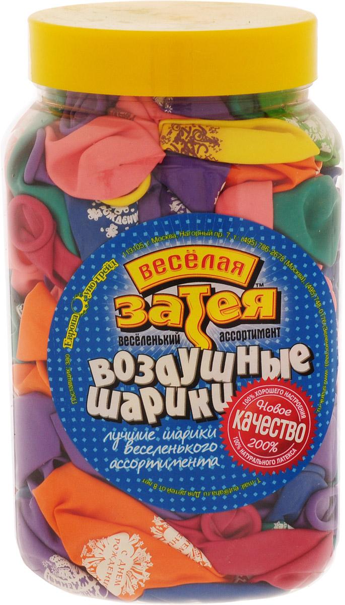 Веселая затея Набор воздушных шариков С днем рождения 200 шт - Воздушные шарики