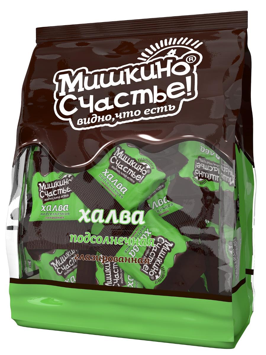 Мишкино счастье конфеты халва подсолнечная глазированная, 345 г0120710Тающая во рту конфета из нежнейшей халвы, покрытая лучшей темной глазурью. Конфеты в удобной упаковке.