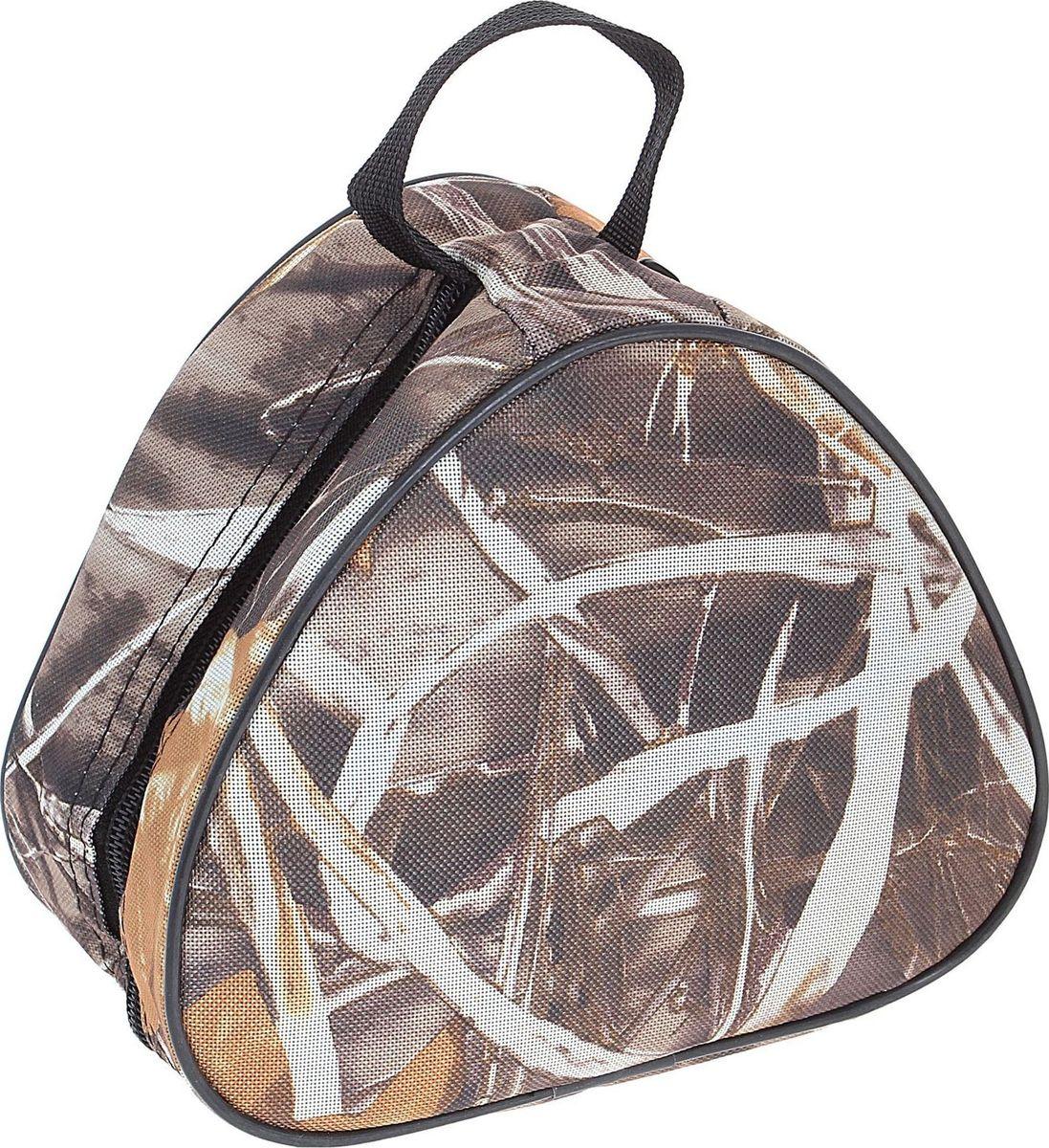 Сумка Onlitop для хранения и переноски катушек, большая5362173560Лёгкая и компактная сумка для хранения и переноски катушек оснащена ручкой для переноски и закрепления на рюкзаке. Выполнена из прочного, непромокаемого, легко чистящегося полиэстера. Широкие стороны уплотнены, чтобы избежать повреждения груза. Молния по всему периметру позволяет широко раскрывать сумку.
