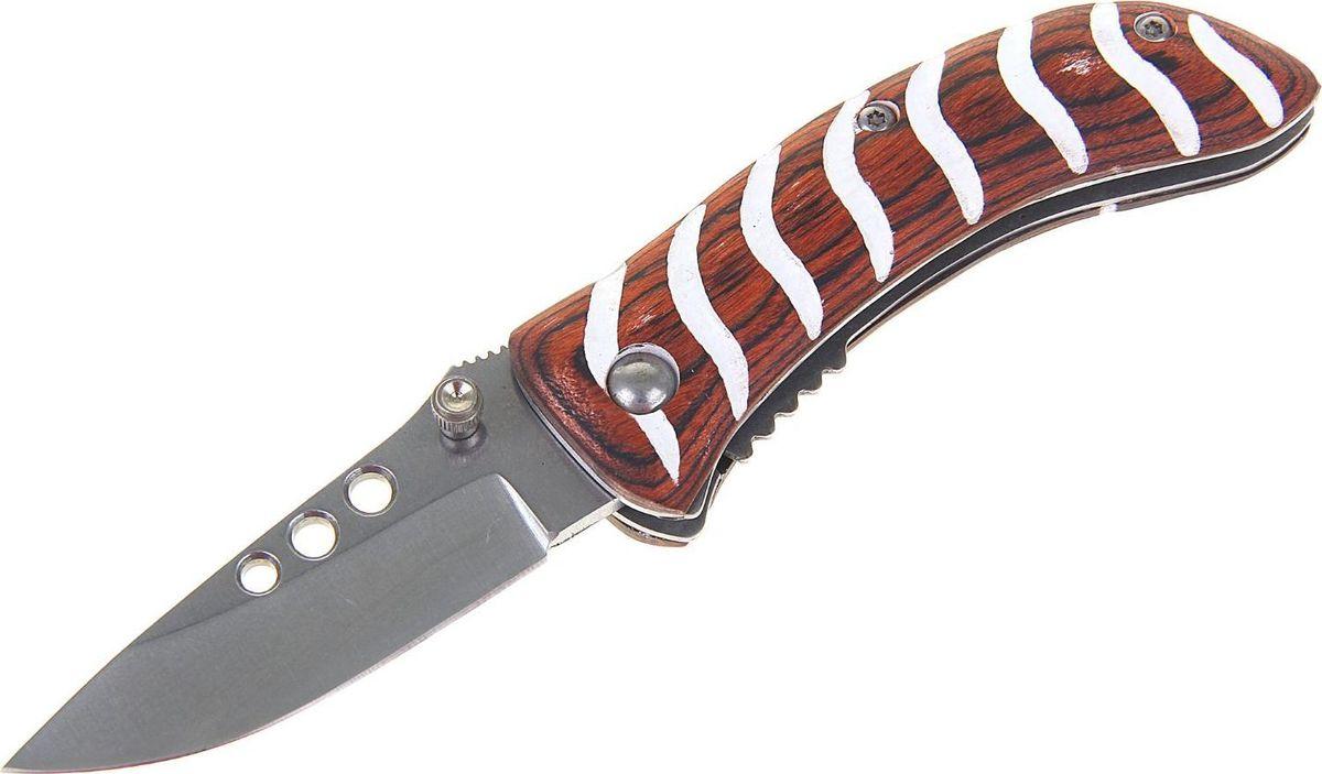Нож перочинный, с фиксатором, 14,5 х 1,7 х 3 см. 1218945KOCAc6009LEDМногие мужчины вместо банальных безделушек предпочитают получить в подарок атрибут, воплощающий их силу, мужество и отвагу. В этом случае оригинальным и необычном подарком может стать нож складной неавтоматический с фиксатором, лезвие черное с зазубринами, рукоять черная, под крокодила.Такой клинок будет отражением личностных качеств своего обладателя и незаменимым помощником на охоте, рыбалке или в быту.