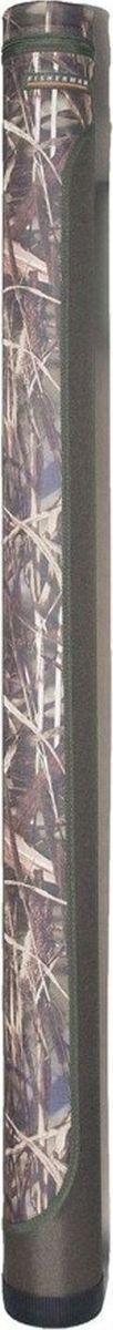 Тубус для спиннинга Fisherman, 110 х 145 см. Ф2921984525Простой, но проверенный временем двухцветный тубус Fisherman для 3-5 спиннинговых удилищ. Имеет простую удобную форму и регулируемый по длине отстёгивающийся ремень для переноски. Дно тубуса защищено толстым пластиковым стаканом.Диаметр: 11 см.Высота: 145/150 см (внутренняя/наружная).