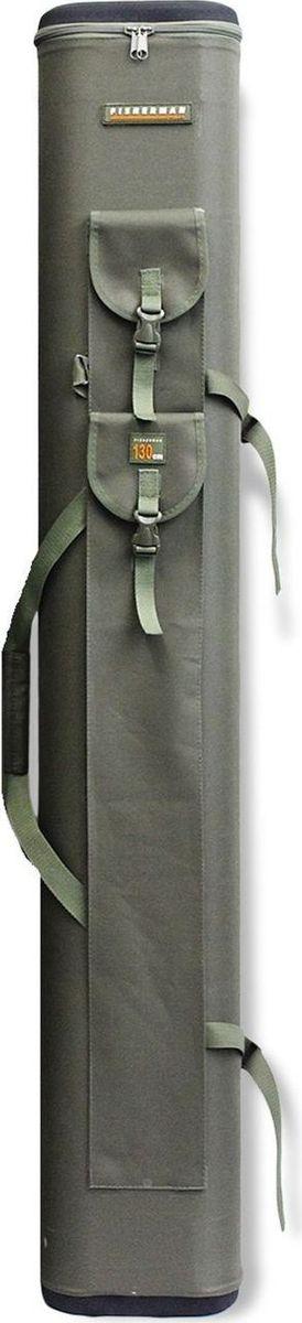 Тубус для спиннинга Fisherman, двойной, 110 х 130 см. Ф176/25362173560Двойной тубус для спиннинга способен вместить до 10 удилищ одновременно. Имеет три наружных кармана для стоек или подсачка, двойную сбалансированную ручку и отстёгивающийся ремень рюкзачного типа, облегчающий переноску загруженного чехла. Крышка и дно тубуса выполнены из пенополиуретана, армированного прочной тканью.В названии указан внутренний размер тубуса, внешний на 4 см больше.