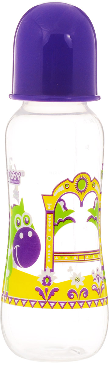 Lubby Бутылочка для кормления Русские мотивы от 0 месяцев цвет фиолетовый 240 мл