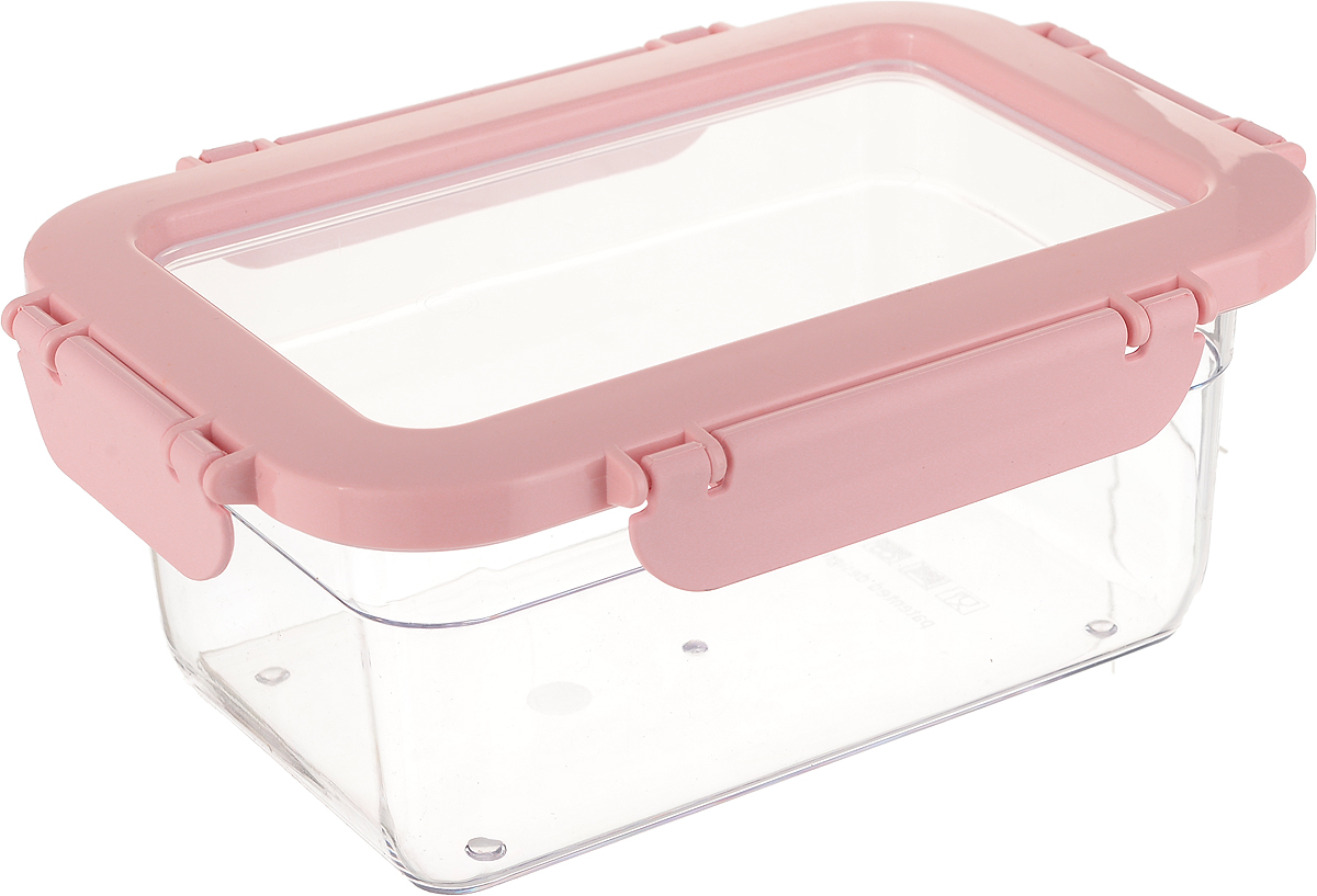 Контейнер для продуктов Herevin, цвет: светло-розовый, прозрачный, 1 л161425-500_светло-розовыйКонтейнер для продуктов Herevin изготовлен из качественного пищевого пластика без содержания BPA. Крышка с 4 защелками плотно и герметично закрывается, что позволяет сохранять продукты свежими долгое время. Такой контейнер подойдет для использования дома, его можно взять с собой на работу, учебу, в поездку. Можно использовать в микроволновой печи без крышки, ставить в холодильник. Нельзя мыть в посудомоечной машине.