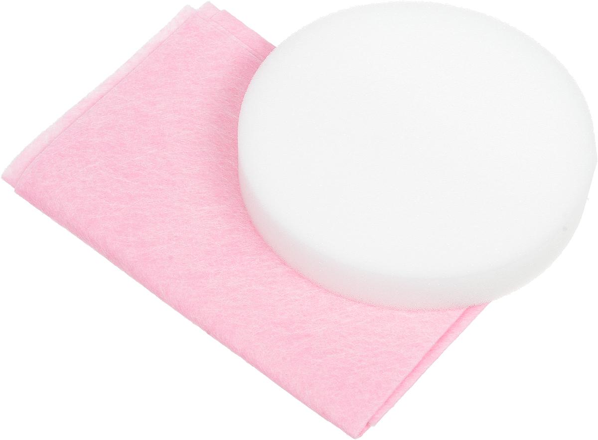 Набор салфеток для полировки автомобиля Runway, цвет: розовый, белый, 2 штТ04_фиолетовыйНабор салфеток для полировки автомобиля Runway состоит из вискозной салфетки и губки. Набор прекрасно полирует автомобиль. Для нанесения полироли используйте вискозную салфетку. Небольшое количество полироли выдавите на салфетку и равномерно нанесите на лакокрасочное покрытие автомобиля. Окончательно располируйте нанесенную полироль губкой. Набор подходит для многократного применения.Размер салфетки: 30 х 30 см.Диаметр губки: 12 см.