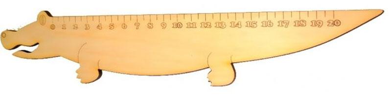 Кидстейшн Линейка Крокодил72523WDЗабавная фигурная линейка выполнена из дерева. Размер изделия — 30 см, Линейка деревянная Машинка выполнена из качественного материала, имеет интересный дизайн, ее можно использовать использовать и для учебы, и для игры.