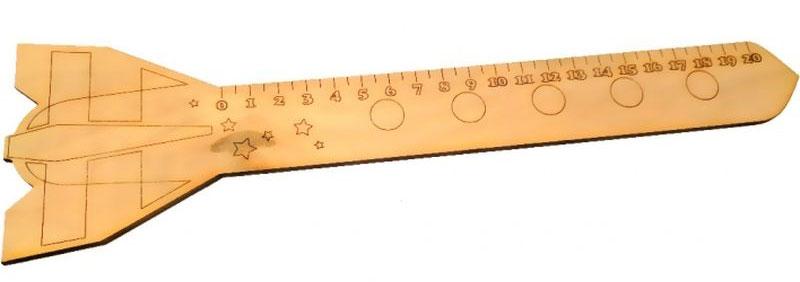 Кидстейшн Линейка РакетаD-914Забавная фигурная линейка выполнена из дерева. Размер изделия — 30 см, Линейка деревянная Машинка выполнена из качественного материала, имеет интересный дизайн, ее можно использовать использовать и для учебы, и для игры.