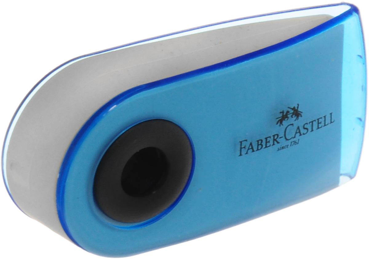 Faber-Castell Ластик Sleeve Mini цвет голубойD-906Ластик Faber-Castell Sleeve Mini имеет эргономичную форму. Пластиковый подвижный колпачок защищает ластик от загрязнения.Ластик не содержит ПВХ.