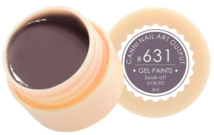 Canni Гель-краска для ногтей Gel Paints, тон № 631, 5 мл30994236216Гель-лак Canni – это покрытие для ногтей нового поколения, которое поставит крест на всех известных Вам ранее проблемах и трудностях использования Гель-лаков. Это самые качественные и самые доступные шеллаки на сегодняшний день. Canni Гель-лак может легко сравниться по качеству с продукцией CND, а в цене и вовсе выигрывает у американского бренда. Предельно простое нанесение, способность к самовыравниванию, отличная пигментация, безопасное снятие, безвредность для здоровья ногтей и огромная палитра оттенков – это далеко не все достоинства Гель-лаков Канни. Каждая женщина найдет для себя в них что-то свое, отчего уже никогда не сможет отказаться.