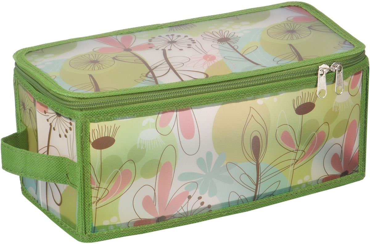Коробка для хранения Handy Home Весна, складная, 30 х 15 х 15 смESH06 SКороб складной на молнии из пластика с ручкой. Легко собирается благодаря застежкам-молниям. Занимает минимум места в сложенном виде. Подходит для хранения одежды, обуви, мелких предметов, документов и многого другого.