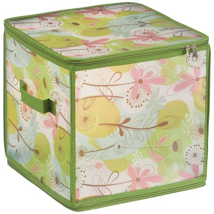Коробка для хранения Handy Home Весна, складная, 30 х 30 х 30 смБрелок для ключейКороб складной на молнии из пластика с ручкой. Легко собирается благодаря застежкам-молниям. Занимает минимум места в сложенном виде. Подходит для хранения одежды, обуви, мелких предметов, документов и многого другого.
