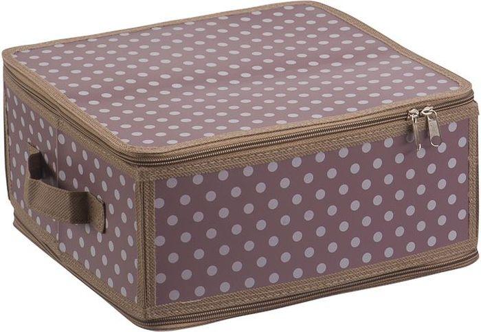 Коробка для хранения Handy Home Полька, складная, 30 х 28 х 15 смБрелок для ключейКороб складной на молнии из пластика с ручкой. Легко собирается благодаря застежкам-молниям. Занимает минимум места в сложенном виде. Подходит для хранения одежды, обуви, мелких предметов, документов и многого другого.