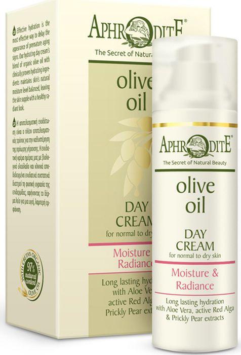 Крем дневной для лица Увлажнение и Сияние Aphrodite, 50 млZ-19Эффективное увлажнение, омоложение, питание и защита кожи на 24 часа. Уникальная формула крема содержит активные ингредиенты, которые помогают сохранить молодость, здоровье и сияние кожи. Органическое оливковое масло,насыщенное антиоксидантами,обеспечивает полноценное питание кожи. Гиалуроновая кислота, экстракт опунции и алоэ вера помогают поддерживать водно-липидный баланс кожи. Экстракты рожкового дерева, меда, красных водорослей и белого лотоса насыщают кожу жизненно важными для нее питательными веществами. Крем также содержит уникальный комплекс из масла жожоба и витаминов, который разработан с учетом потребностей нормальной и сухой кожи.