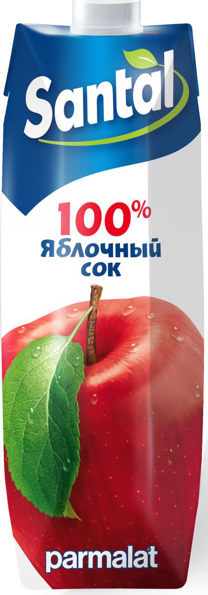 Santal Сок Яблочный, 1 л547716Яблочный сок для детского питания, осветленный.
