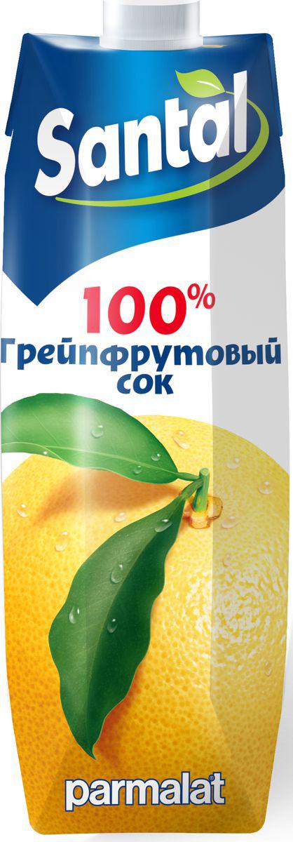 Santal Сок Грейпфрутовый, 1 л0120710Грейпфрутовый сок для детского питания, восстановленный