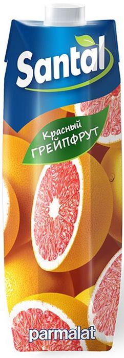 Santal Напиток Красный грейпфрут, 1 л0120710Сокосодержащий напиток из красного грейпфрута, осветленный