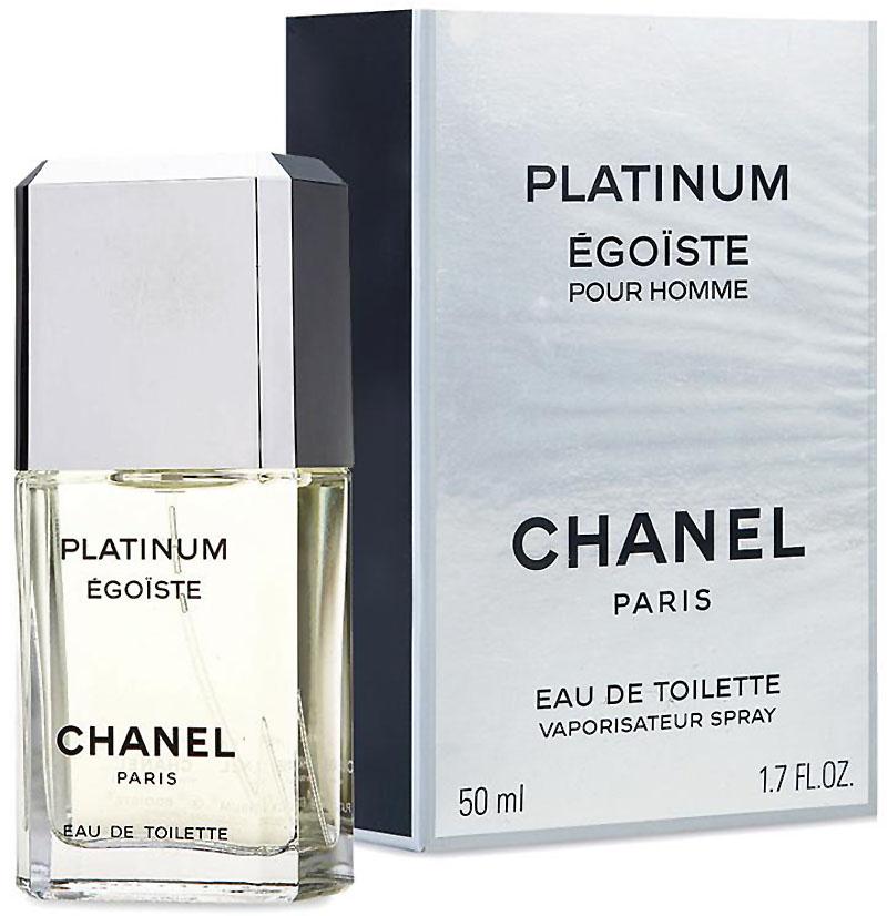 Chanel Egoiste Platinum Туалетная вода, 50 млMNA-100BEgoiste Platinum Chanel - это аромат для мужчин, принадлежит к группе ароматов древесные цветочные мускусные. Egoiste Platinum выпущен в 1993. Парфюмер: Jacques Polge. Верхние ноты: Розмарин, Лаванда, Нероли и Петитгрейн; ноты сердца: Гальбанум, Мускатный шалфей, Жасмин и Герань; ноты базы: Амбра, Сандал, Дубовый мох, Ветивер и Белый кедр.