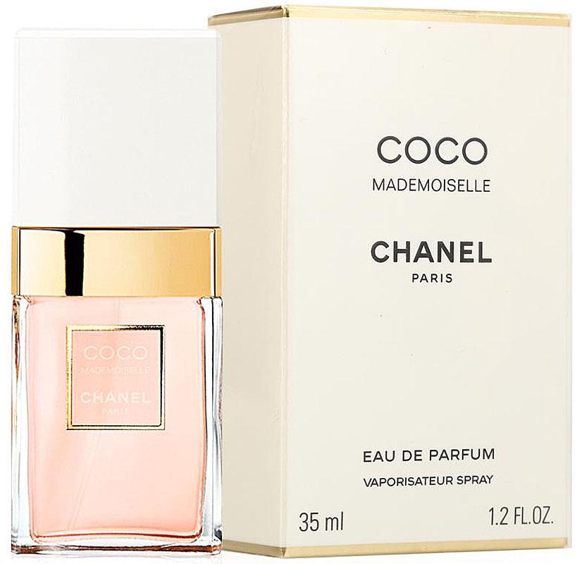 Chanel Mademoiselle Coco Парфюмерная вода, 35 млMM-3000В_черныйПарфюмерная вода Coco Mademoiselle имеет свежую, яркую композицию, в которой гармонично сочетаются дерзкие и соблазнительные ноты. Аромат открывается взрывом цитрусовой прохлады апельсина, бергамота, апельсинового цвета и мандарина, обдающих свою обладательницу зарядом нескончаемой энергии.В сердце композиции властвуют цветы. Душистые благоухания иланг-иланга, турецкой розы, жасмина и мимозы сплетаются в необыкновенно обворожительный букет, наполняющий аромат романтизмом, шармом и задорным обаянием.В шлейфе парфюмерной воды Coco Mademoiselle аккорды мягкого обольщения уступают место страсти и чувственности. Томные ноты пачули, бобов тонка, ванили, ветивера, белого мускуса и опопонакса оставляют на коже свой манящий след, за которым по пятам готовы идти многие мужчины.