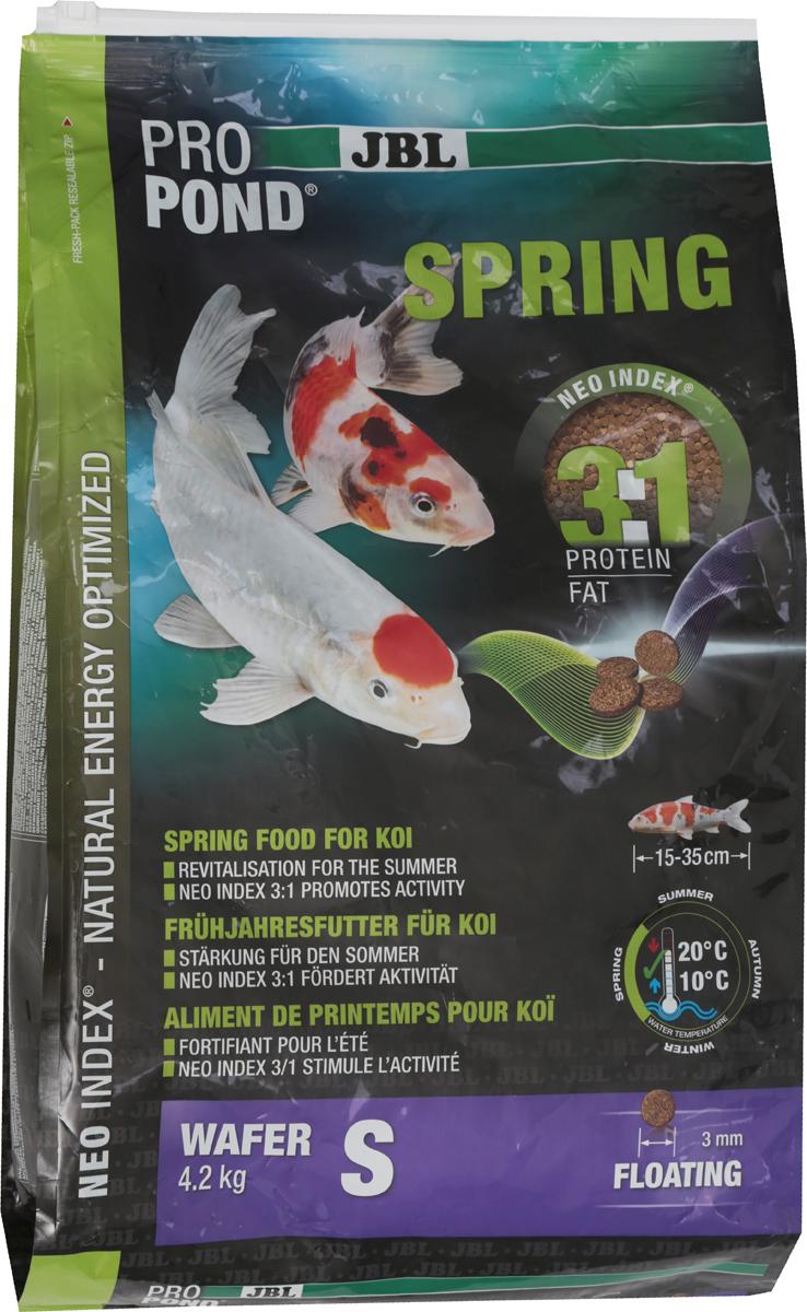 Корм весенний JBL ProPond. Spring S для карпов кои небольшого размера, плавающие чипсы, 4,2 кг (12 л)0120710Корм весенний JBL ProPond. Spring S в виде плавающих чипсов предназначен для карпов кои небольшого размера. Это основной корм с правильным соотношением белков и жиров 3:1 по индексу NEO Index, учитывающему температуру воды, функции, размер и возраст питомцев. NEO Индекс буквально означает: натуральное энергетически оптимизированное питание. Если рассматривать с точки зрения времени года, рыбы зимой должны получать вдвое меньше белков (2:1), чем летом (4:1). Однако учитываются не только время года и температура воды, но и размер и возраст, а также функция корма (например, для роста - ProPond Growth). NEO Индекс сочетает в себе все эти нюансы. Корм содержит лосось, сою, креветки, пшеницу, шпинат и спирулину для силы и здоровья кои (при температуре воды 10-20°С). Размер корма S (3 мм) предназначен для рыб 15-35 см. Плавучие чипсы с 25% белка, 8% жира, 3% клетчатки и 8% золы. Корм в виде чипсов хранится в закрывающейся воздухо-, водо- и светонепроницаемой упаковке для сохранения качества. Товар сертифицирован.
