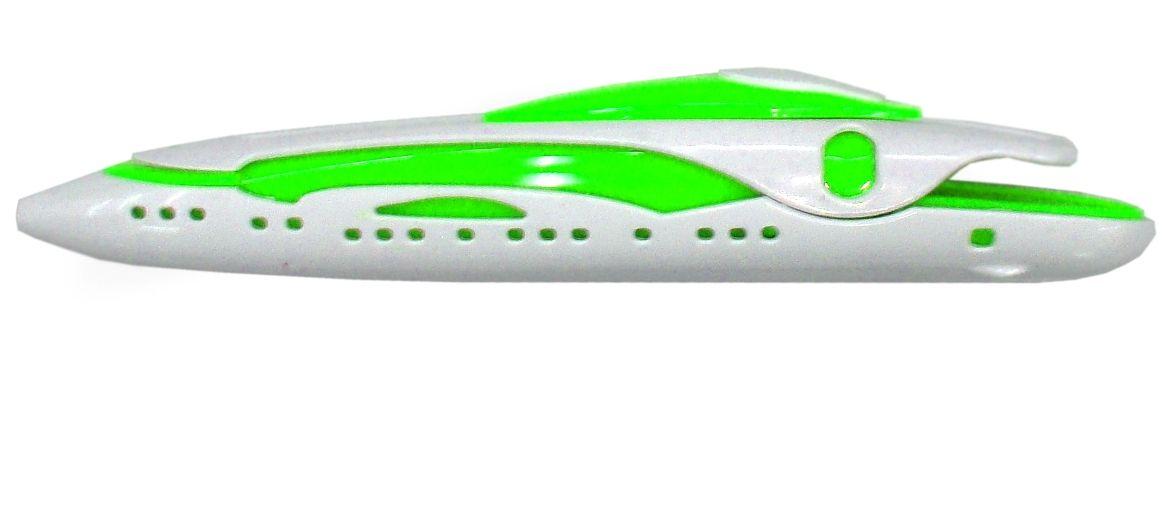 Карамба Ручка шариковая Катер цвет корпуса зеленый цвет чернил синий2774Оригинальная ручка выполнена в виде катера.