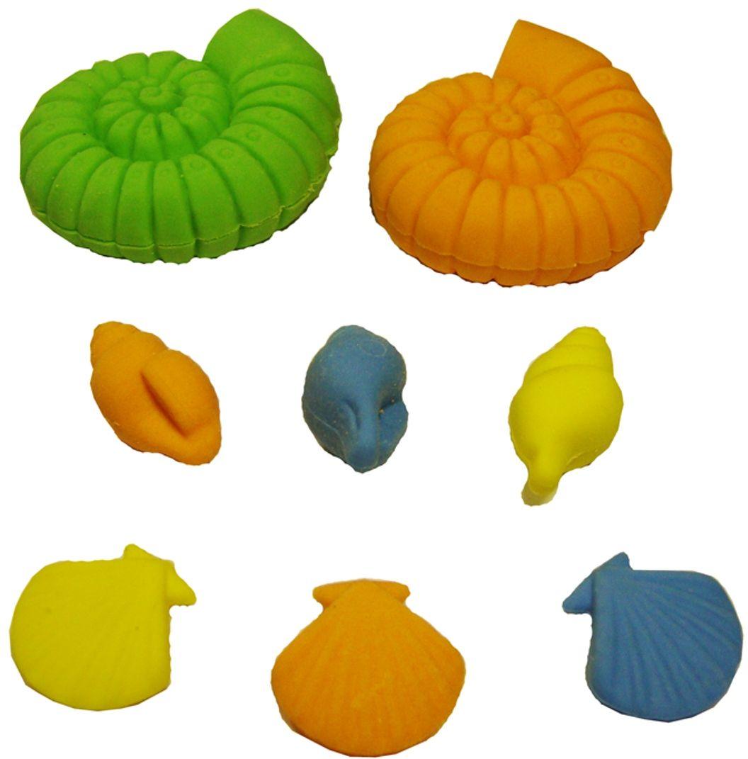 Карамба Набор ластиков Ракушка 8 шт4042Ластики Карамба Ракушка с плотной структурой изготовлены для эффективного стирания карандашей различной твердости. Ластик обеспечивает высокое качество коррекции и не повреждает поверхность бумаги. Ластики выполнены в виде разноцветных ракушек.