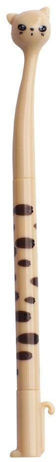 Карамба Ручка шариковая Кошка цвет корпуса бежевый цвет чернил черный72523WDОригинальная ручка в виде кошки.