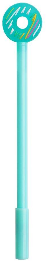 Карамба Ручка шариковая Бублик цвет корпуса бирюзовый4868Оригинальная шариковая ручка в виде бублика, при помощи которого можно стереть чернила.Цвет чернил - синий.
