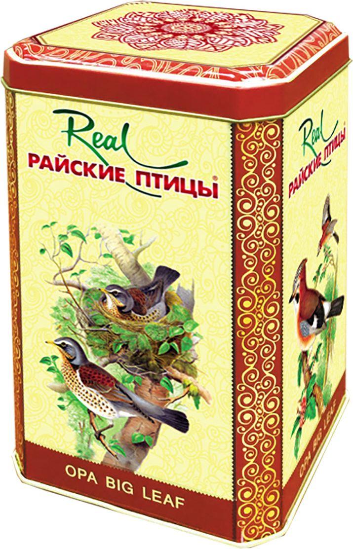 Real Райские птицы особо крупный листовой черный чай (ОПА), 200 г (жестяная банка)211Чай чёрный байховый Райские птицыО.П.А.крупный лист.Цейлонский чай, собран в высокогорьях Шри-Ланки. Чай без добавок ферментированный. (стандарт Orange Pekoe категории А)