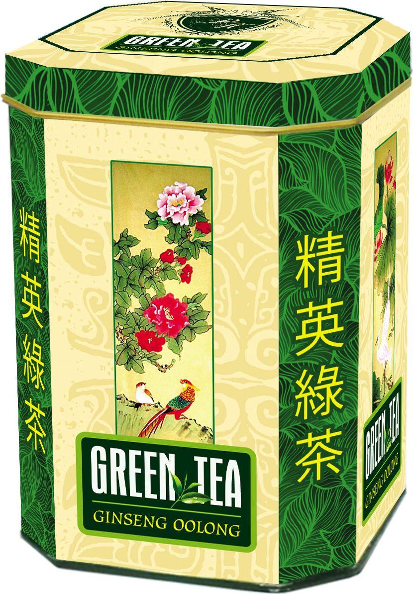 Real Райские птицы листовой зеленый чай Ginseng Oolong, 150 г0120710Полуферментированный Китайский зелёный чайУлун, обработанный вытяжкой из корня женьшеня,в виде комочков из чайных листьев. Заваривать этот чай можно более двух раз. Вкус и аромат - несравненный!