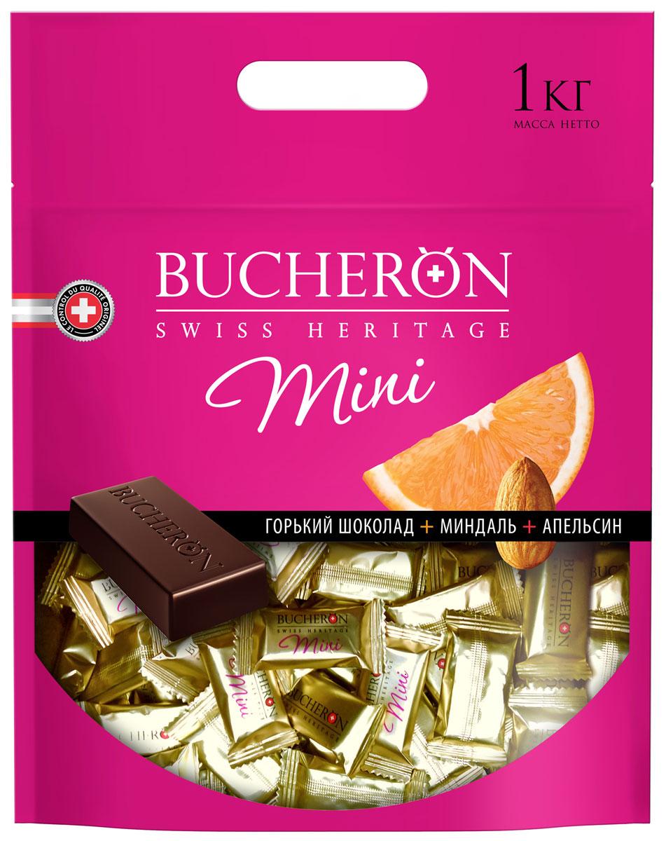 Bucheron Mini горький шоколад с миндалем и апельсином, 1 кг14.5862Благородный вкус шоколада, приготовленного из мексиканских какао-бобов Criollo, делает более насыщенным и пикантным калифорнийский миндаль и кусочки марокканнского апельсина.