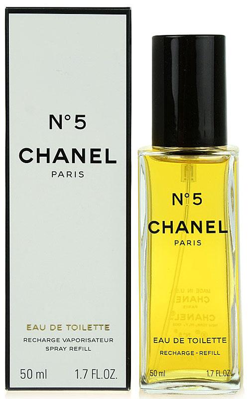 Chanel №5 Туалетная вода, 50 мл01962Туалетная вода Chanel N°5 обладает более легкой по сравнению с одноименными духами композицией, в состав которой, по различным сведениям, входит от 30 до 200 различных ингредиентов. Свое звучание Шанель N°5 открывает абстрактным сочетанием цитрусово-цветочных нот. Лимон, бергамот, нероли и иланг-иланг, лежащие на кристально чистой подложке из альдегидов, наделяют запах хрупкостью, свежестью и невероятной элегантностью.В сердце парфюмерной воды доминирующие позиции переходят к ландышу, ирису, жасмину, розе и корню ириса. Этот чувственный букет, в котором особенно явно слышится обольстительная пудровость, расстилается по коже своей обладательницы женственной дымкой, в которой хотят забыться многие мужчины.Постепенно растворяясь, душистая симфония перерождается в базовый аккорд, составленный классическими нотами. Амбра, циветта, мускус, ваниль, ветивер, дубовый мох и сандал, смешанные с яркими, необыкновенно притягательными тонами пачули, приносят в парфюмерную воду Chanel N°5 изысканную томность, которой обладают все ароматы бренда.
