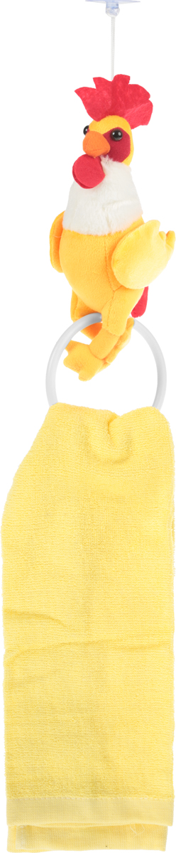 Махровое полотенце Dinosti Петушок, с деражателем, цвет: желтый, 30 х 70 см391602Махровое кухонное полотенце Cherir Петушок изготовлено из 100% хлопка. Изделие отлично впитывает влагу, не требует особого ухода, не теряет своего внешнего вида даже после многочисленных стирок. Ткань отличается прочностью и долговечностью. В комплекте поставляется мягкая игрушка в виде петушка с круглым держателем. Петушок крепится к поверхности с помощью присоски. Такое полотенце украсит вашу кухню и станет приятным подарком для близких. Размер держателя: 10 х 7 х 21 см.