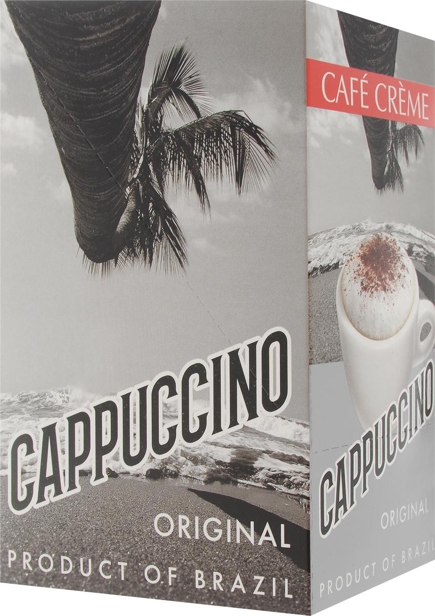 Cafe Creme Original кофейный напиток в пакетиках, 10 шт0951-20_новая упаковкаCafe Creme Original изготовлен с использованием 100% натурального кофе высшего качества, выращенного в горах Эспирито-Санто на юго-востоке Бразилии. Гармоничное сочетание кофе, сахара и сливок, нежная сливочная пенка, бодрящий вкус и аромат ванили прекрасно взбодрят вас в любое время дня. Приготовлен по оригинальному бразильскому рецепту.Состав: сахар-песок, заменитель сухих сливок, натуральный кофе, ароматизатор.Уважаемые клиенты! Обращаем ваше внимание на то, что упаковка может иметь несколько видов дизайна. Поставка осуществляется в зависимости от наличия на складе.
