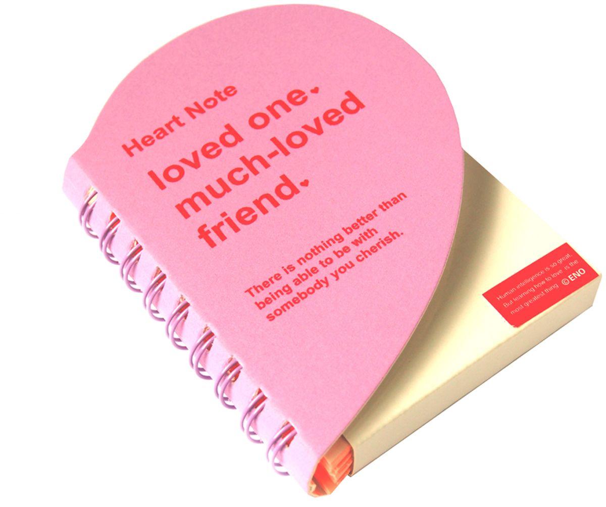 Карамба Блокнот Сердце 136 листов цвет светло-розовый730396Пакет выполнен в виде сердца с цветными нелинованными страницами. 136 листов.