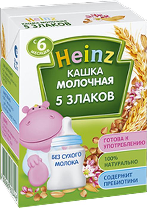 Heinz каша 5 злаков молочная питьевая, с 6 месяцев, 200 г75980225Перед употреблением необходимое количество каши перелить из пакета в посуду для кормления. По желанию подогреть на водяной бане до температуры кормления (36-37 С) и хорошо перемешать. Перед применением взбалтывать.Продукт содержит глютен и молоко