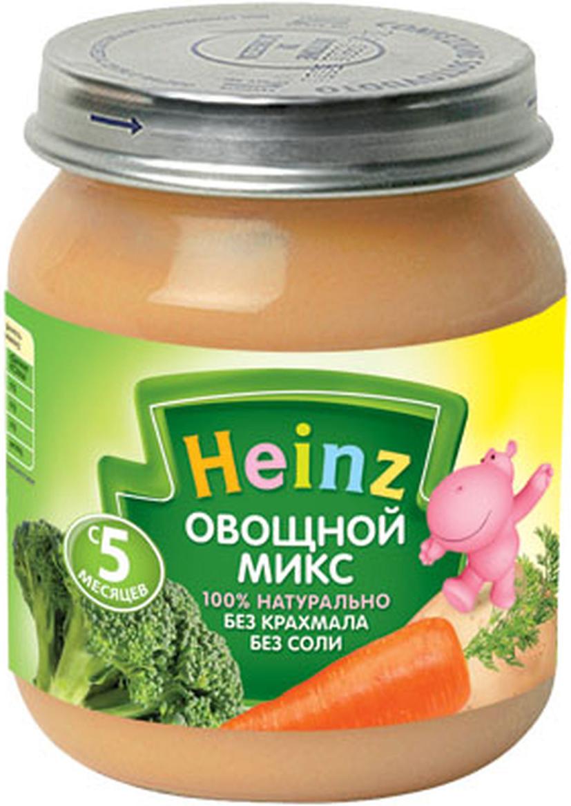 Heinz пюре овощной микс, с 5 месяцев, 120 г70168500Продукт готов к употреблению. Переду употреблением перемешать. Нужное количество подогреть, не добавляя соли. Не разогревать повторно.