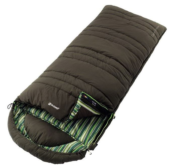 Спальный мешок Outwell  Camper Suprem , двусторонняя молния, цвет: хаки - Спальные мешки
