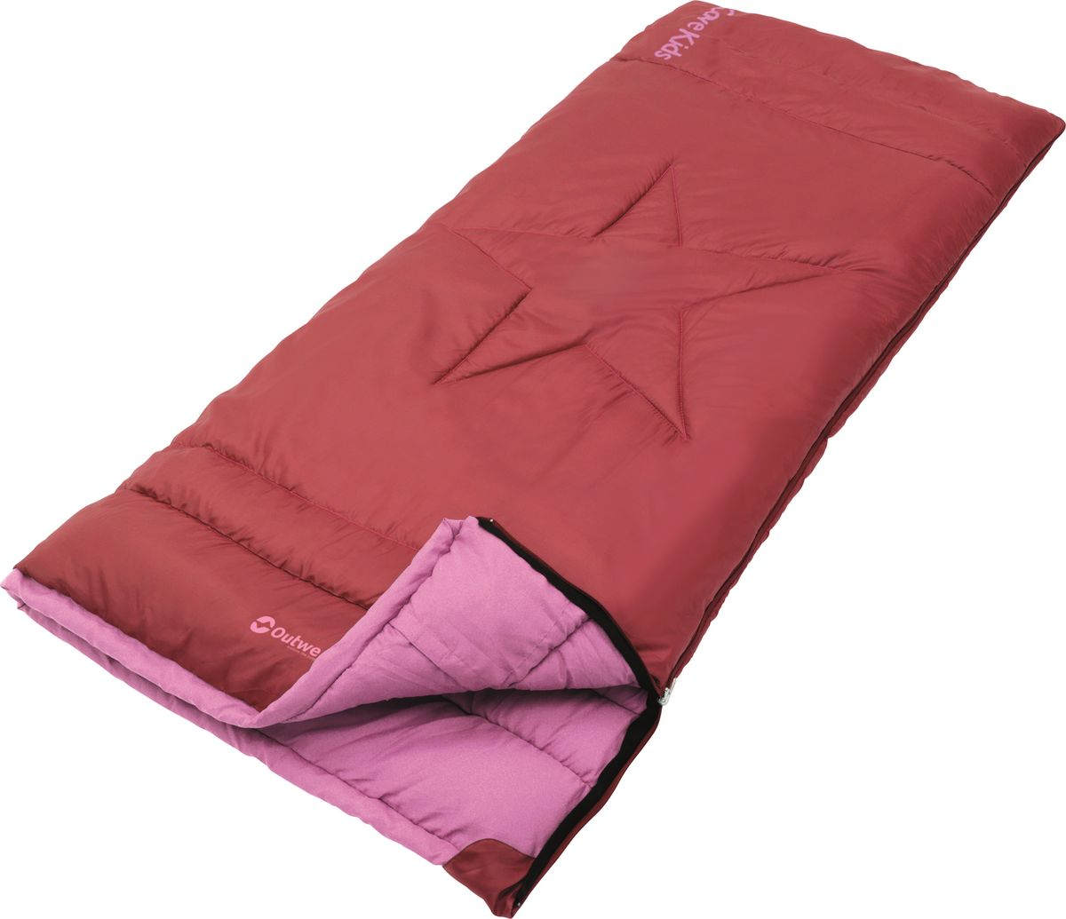Спальный мешок Outwell Cave Kids Red, двусторонняя молния, цвет: красный230148Комфортный, легкий и очень удобный в использовании, спальник-одеяло для детей и подростков Outwell Cave Kids Red предназначен для походов преимущественно в летний период. Этот спальник пригодится вам также во время поездки на пикник, на дачу, или во время туристического похода.Особенности:Молния имеет два замка с обеих сторон.Термоклапан вдоль молнии.Молния с левой стороны.Внутренний карман.Небольшой вес.К спальнику прилагается чехол для удобного хранения и переноски.
