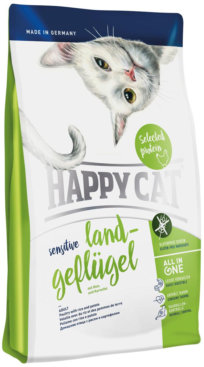 Корм для кошек Happy Cat Sensitive. Домашняя птица, 4 кг12171996Многие кошки чувствительно реагируют на обычную кошачью еду. Непереносимость досаждает владельцам мягколапок, так как требуется специально составленный высококачественный корм, к тому же он должен быть особенно вкусным, для того что бы и гурманы кошачьего мира охотно принимали его. Happy Cat Sensitive домашняя птица питательный сухой корм, который был специально создана для взрослых кошек средней активности с или без непереносимости. Домашняя птица монобелковый корм с высоким содержанием протеина. Осознано были исключены злаки и рыба, зато были добавлены полезные рис, картофель и яблоко.Все важные компоненты, основанные на революционном концепте ALL IN ONE, которые нужны кошкам для активного образа жизни так же содержатся и в этом корме Happy Cat, а именно: профилактика скопления шерсти, уход да полостью рта, Омега 3 и Омега 6 для кожи и шерсти, гарантированная вкусовая привлекательность, большое количество животного протеина и HAPPY CAT Natural life Concept. Данный комплекс имеет большое содержание таурина и минеральных веществ которое обеспечивает оптимальный уровень кислотности и тем самым является профилактикой образования мочекаменной болезни.Состав: птица (23%), рисовая мука (22%), рисовый протеин (19,5%), птичий жир, картофельные хлопья (5%), гидролизат печени, клетчатка, масло из семян подсолнечника, свекольная пульпа, хлорид натрия, яблочная пульпа (0,5%), дрожжи, рапсовое масло, хлорид калия, морские водоросли (0,2%), семя льна (0,2%), Юкка Шидигера (0,04%), корень цикория (0,04%), дрожжи (экстрагированные), расторопша, артишок, одуванчик, имбирь, березовый лист, крапива, ромашка, кориандр, розмарин, шалфей, корень солодки, тимьян (общий объем сухих трав: 0,18%) из контролируемого экологического хозяйства, в сушеном виде.