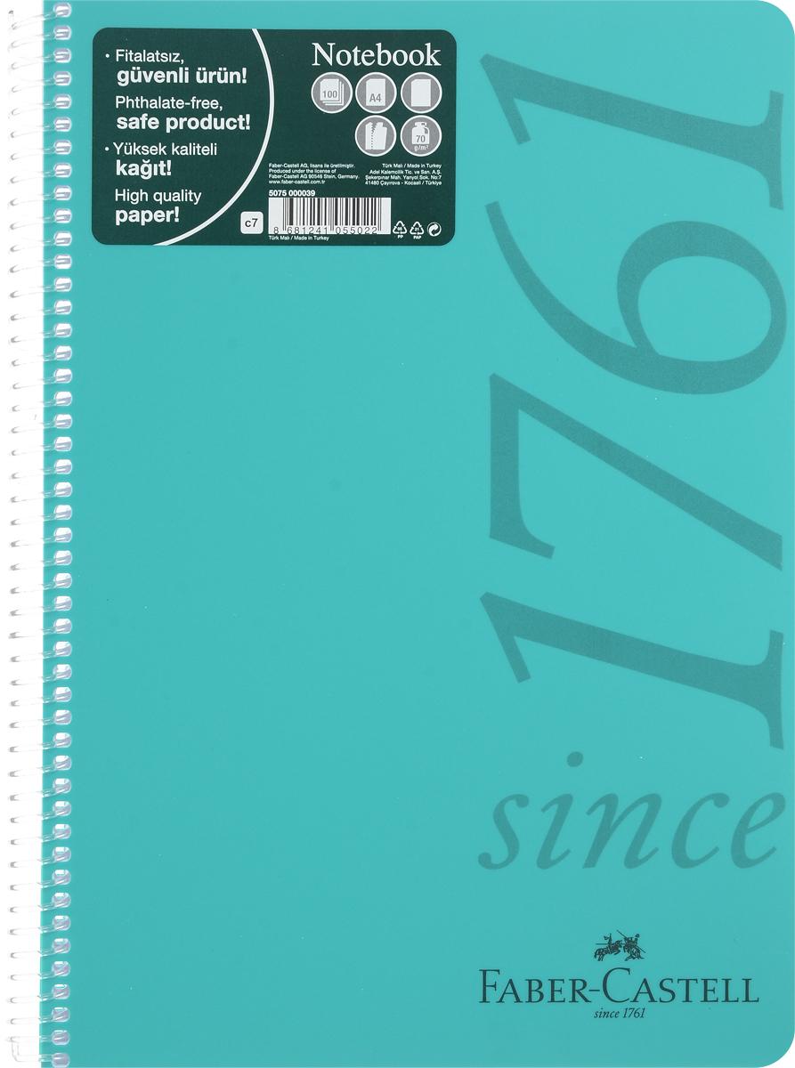 Faber-Castell Блокнот Since 1761 100 листов без разметки цвет бирюзовый507039_бирюзовыйОригинальный блокнот Faber-Castell Since 1761 в твердой пластиковой обложке подойдет для памятных записей, любимых стихов и многого другого.Внутренний блок состоит из 100 листов без разметки. Блокнот скреплен спиралью. Такой блокнот станет вашим верным помощником,а также отличным подарком для в близких и друзей.