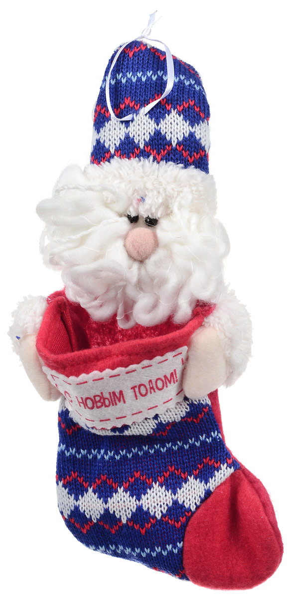 Новогоднее подвесное украшение Win Max Носок для подарков. Дед Мороз, длина 25 см09840-20.000.00Подвесное украшение Win Max Носок для подарков. Дед Мороз выполнено из текстиля. Изделие можно подвесить с помощью текстильного шнурка. Оно оформит ваш интерьер в преддверии Нового года и создаст атмосферу уюта и праздника. Размер изделия: 25 х 11 х 4 см.