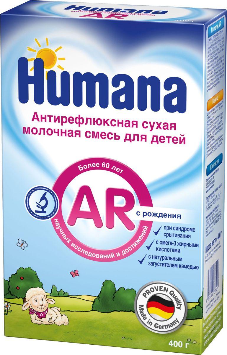 Humana AR антирефлюксная адаптированная молочная смесь, с рождения, 400 г73449Humana Антирефлюкс с рождения- это специальное антирефлюксное сбалансированное питание на основе натурального загустителя – камеди (экстракта плодов рожкового дерева). Обладает выраженным антирефлюксным эффектом, а также способствует разрыхлению, увеличению объема и скорости эвакуации кишечного содержимого.Необходимая доза Humana Антирефлюкс (количество кормлений и количество смеси в одно кормление) подбирается индивидуально вплоть до полной ликвидации срыгиваний. Смесь может назначаться в каждое кормление не в полном объ¬еме, а в виде небольших по объему добавок к рациону в сочетании с адаптированными смесями или грудным молоком. Humana Антирефлюкс хорошо сочетается со смесью Humana 1, а также с грудным молоком. Обеспечивает организм ребенка всеми необходимыми нутриентами и может использоваться в качестве основного питания.